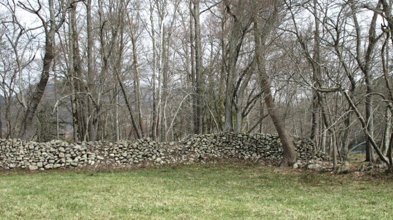 Rock walls built by Cherokee under the supervision of a slave can be seen on the farm. – Ingrid Buehler