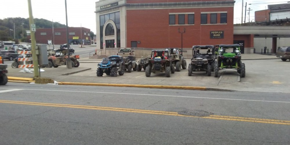 ATV parking at downtown City of LaFollette