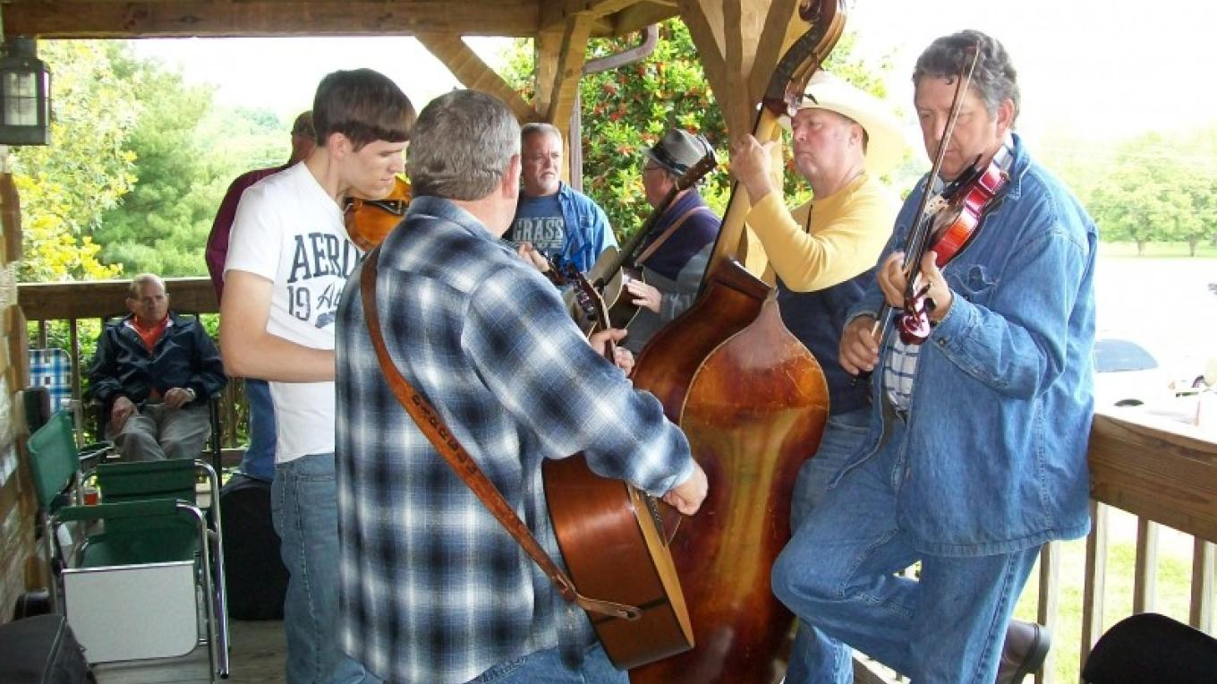 Pickin on the Townsend Visitors Center porch – Townsend Visitors Center