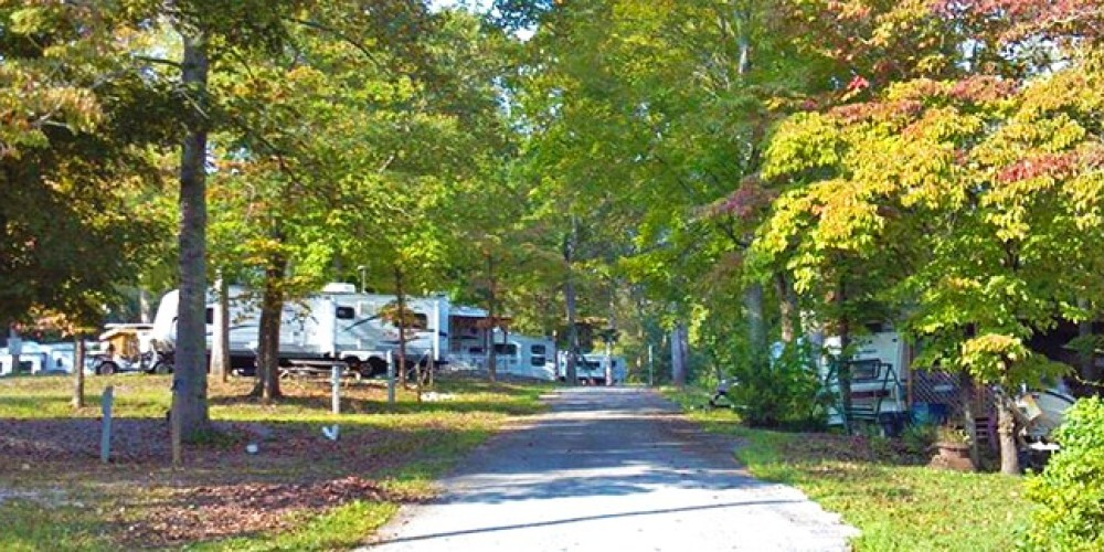 Campsite rentals available. – Mountain Lake Marina