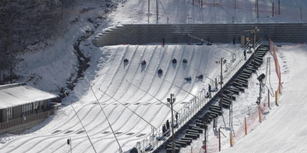 Our snow tubing hill – Ober Gatlinburg
