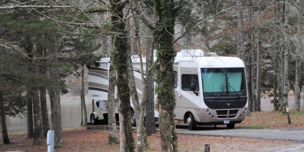 RV pads at Haynes Lake in Tishomingo State Park. – Gary Mathews