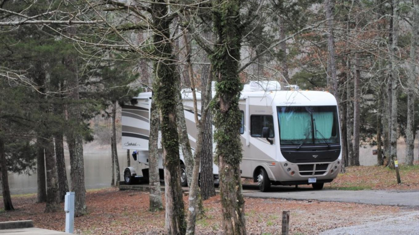 RV pads at Haynes Lake in Tishomingo State Park. – Gary Mathews