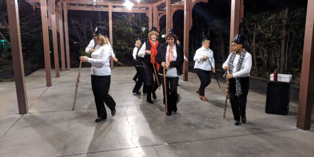 Ms. Georgie's Line Dancers really drew a crowd! – Esther Wood