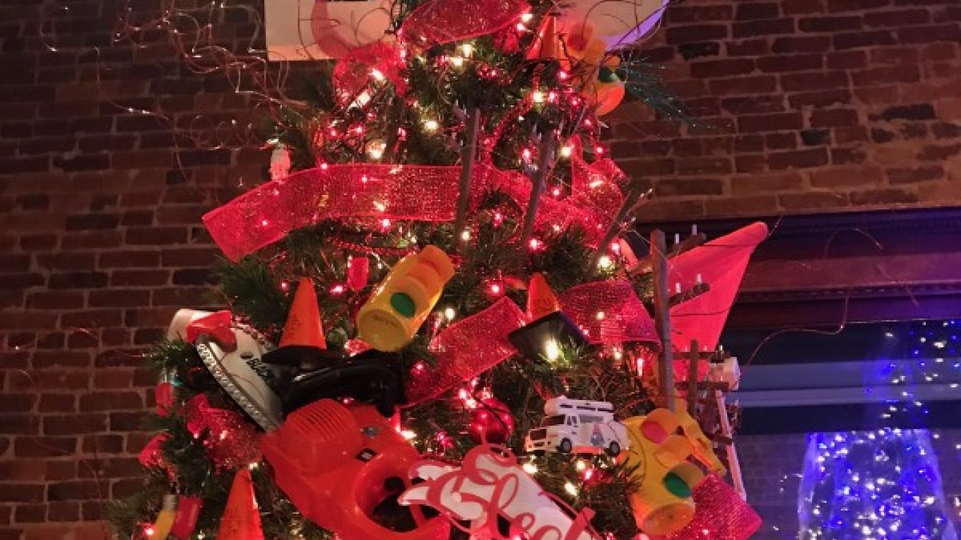 """Downtown Paris makes a beautiful backdrop for """"Trees on the Square"""" which opens in early December each year. – Susan Jones"""