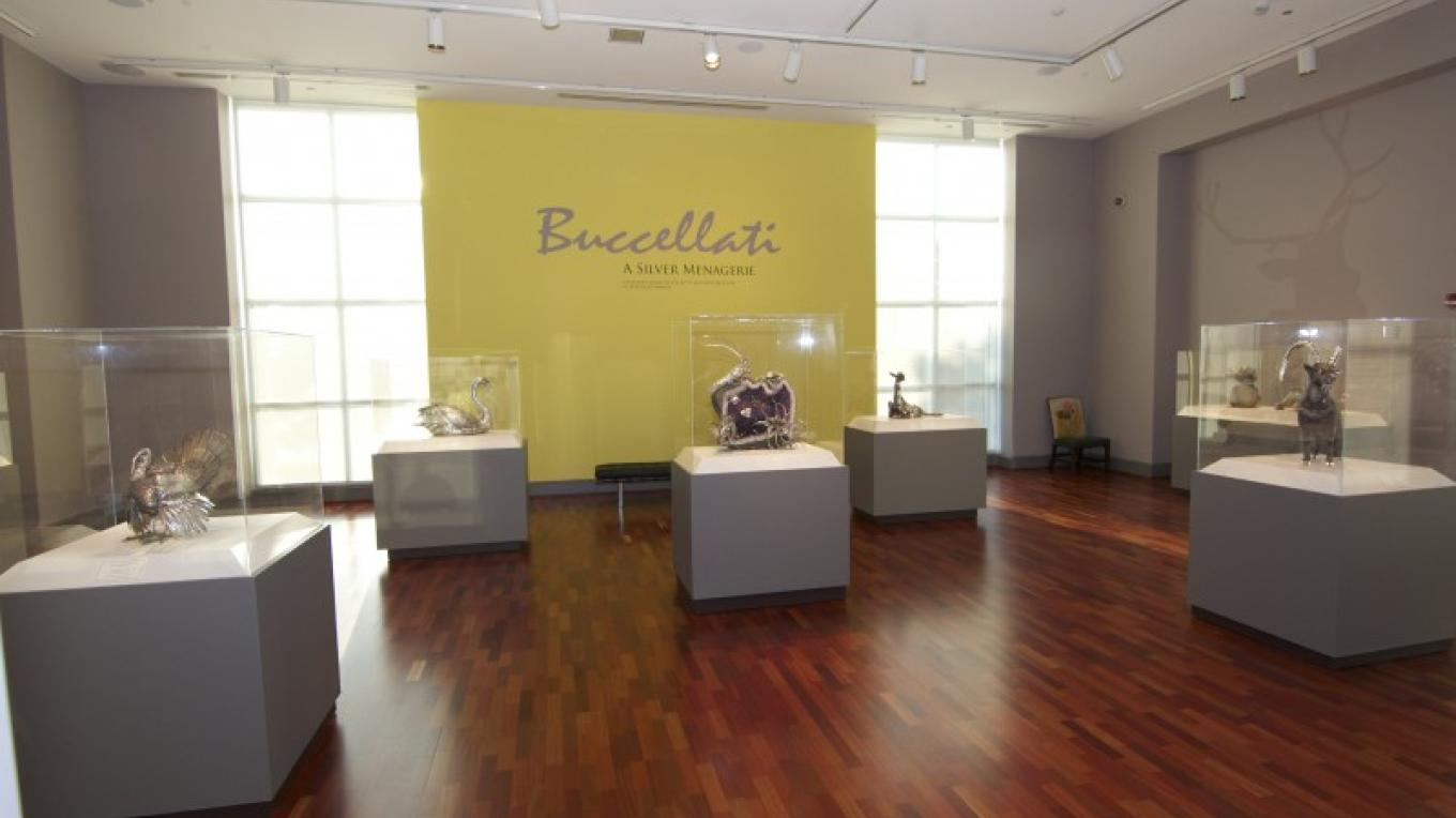 The museum's permanent collection also features Buccellati: A Silver Menagerie, exquisite silver creations designed and fabricated in Italy by the luxury jewelry firm of Buccellati. – Brad Wiegmann