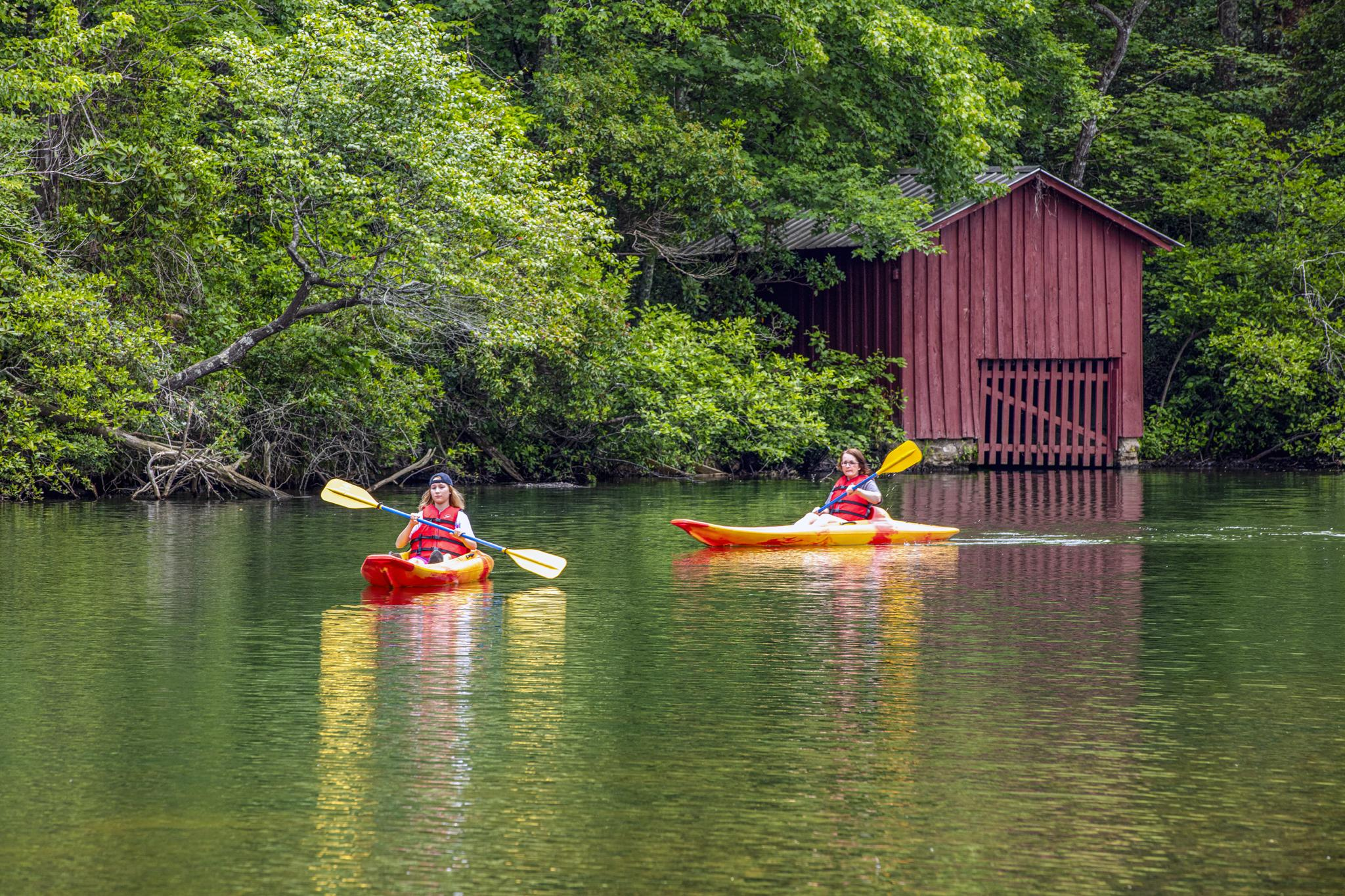 DeSoto State Park provides kayak rentals for exploring the peaceful lake. – Scott Baker