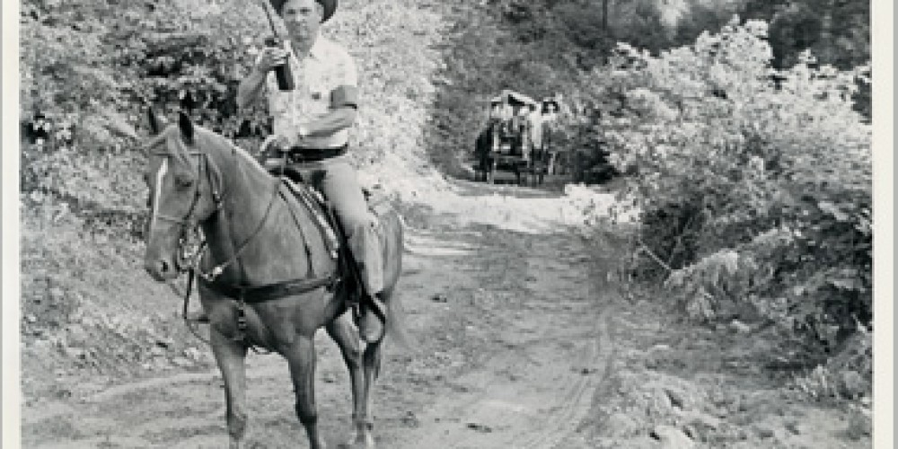 Charles Hall leading the Wagon Train in 1982. He believed so much in the Cherohala Skyway and he is the reason we are able to enjoy it today.