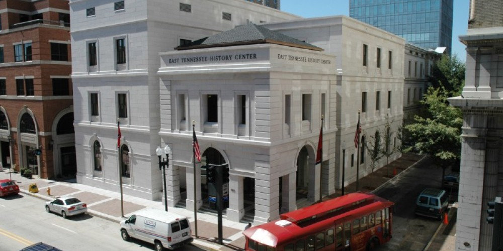 """The core of the East Tennessee History Center is Knoxville's stately 1874 """"Old Custom House."""" – Paul Efird"""