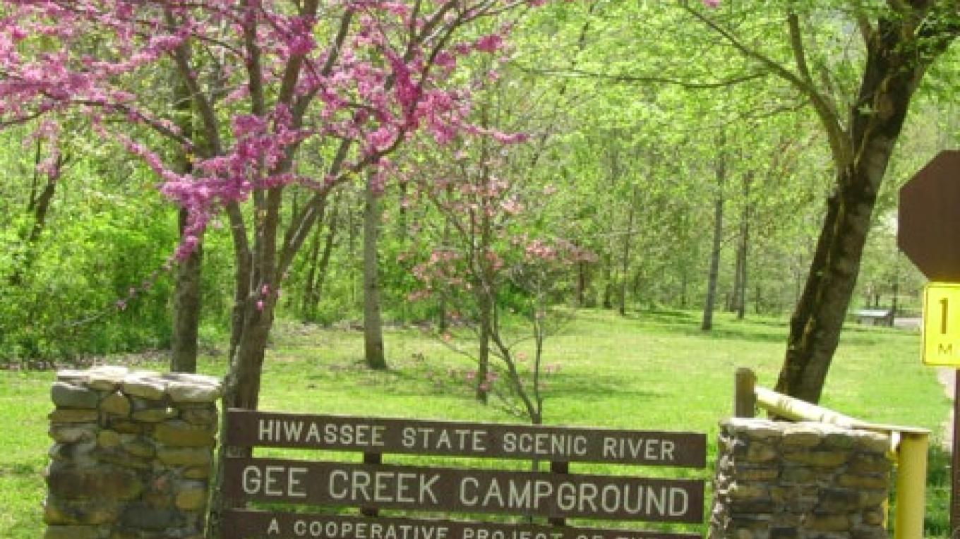Gee Creek Campground entrance – Tennessee State Parks