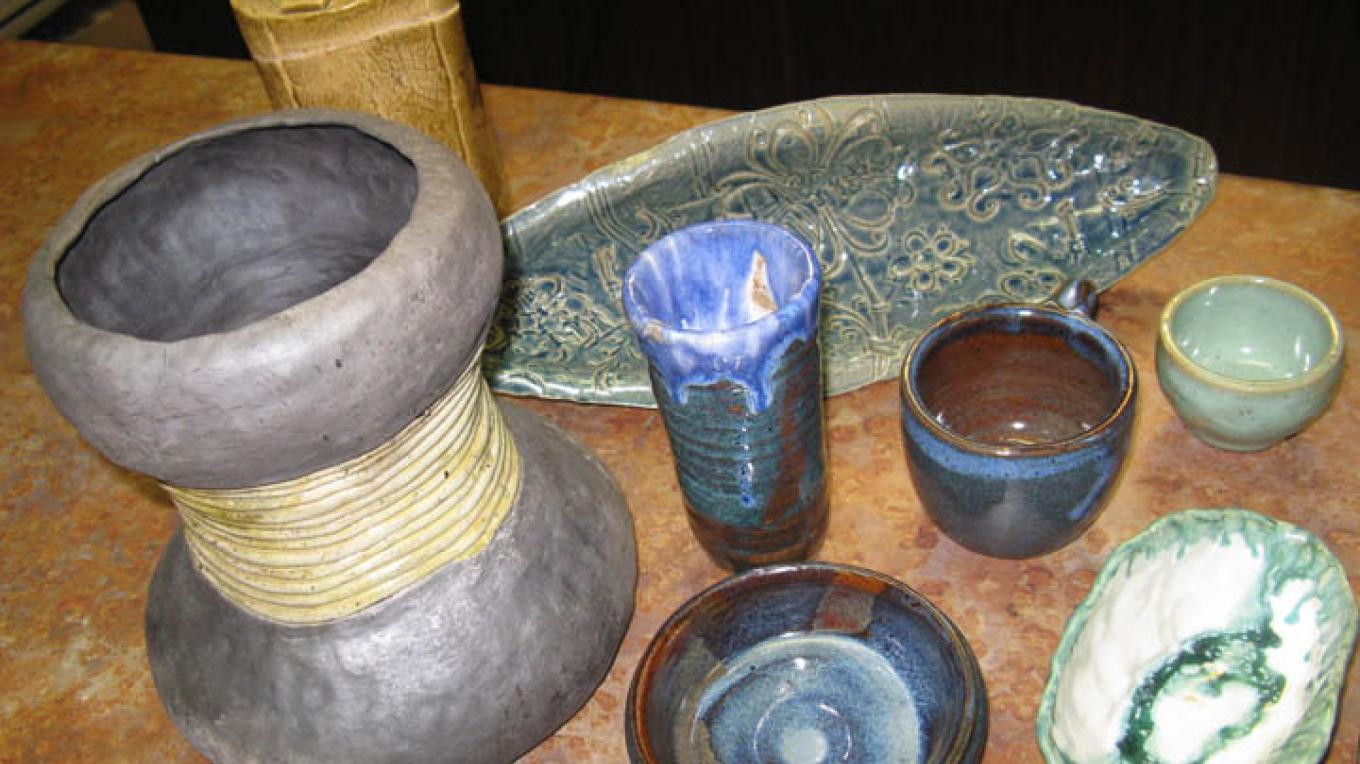 Hand-made pottery from Alicia Sloan is available. – Cheryl Maxwell