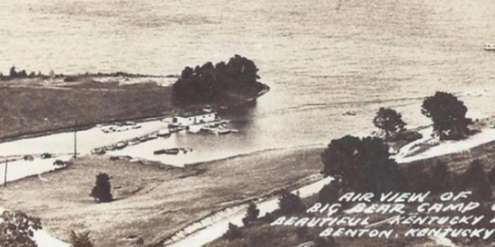 An aerial view of the resort circa 1940s – - Big Bear Resort