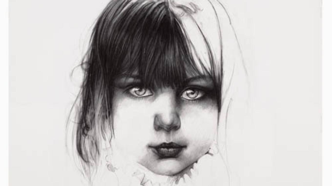 A child from a long run of coalminers in the Appalachian Mountains...this one will never go into the mines...she's shy but full of curiousity and child wonder – charcoal by artist Paul Murray