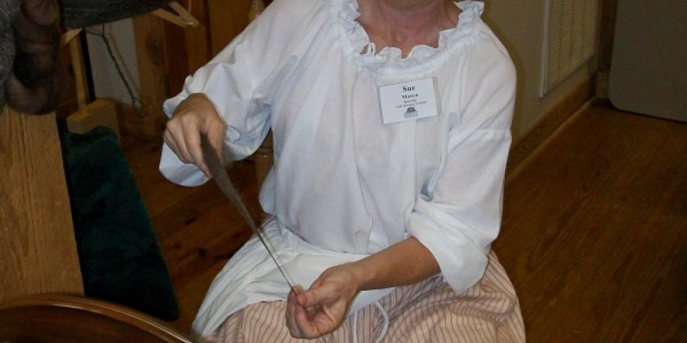 Spinning demonstration – Townsend Visitors Center