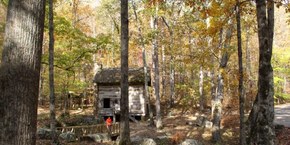 Restored Pioneer Cabin at TSP in Autumn. – FaceBook