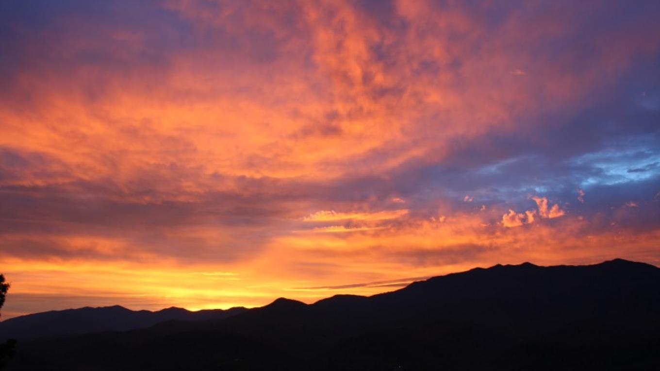 Sunrise from the back deck – Shirley H. Price