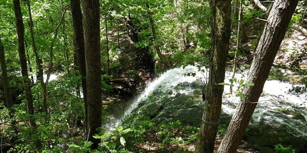 Walking along the top of a waterfall on the Cumberland Trail – Erin Ouzts