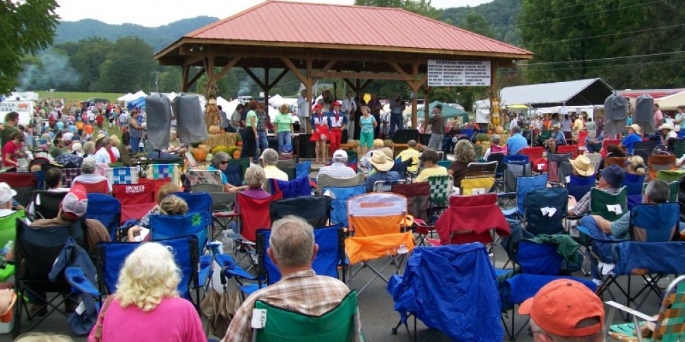 Crowd at the music stage – Townsend Visitors Center