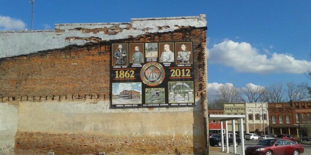 Centennial painting across the street from Jaybird Park – James Gibson