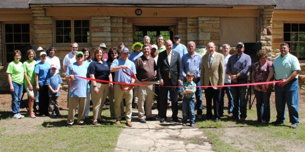 Ribbon Cutting at the Nature Center – Gary Mathews
