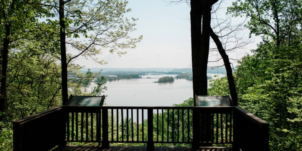 A sturdy deck is located at end of the Duck River Bottoms hiking trail – Cari Griffith