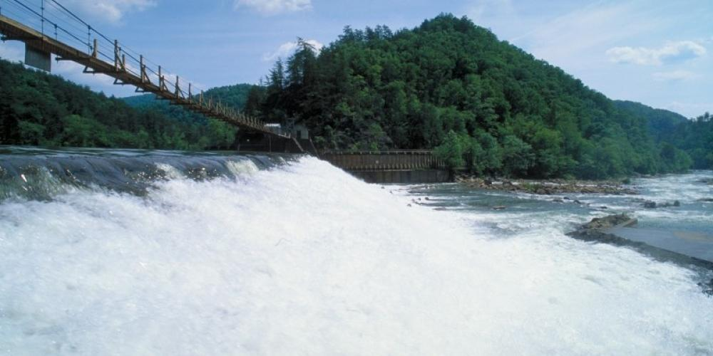 water being released from dam – TVA