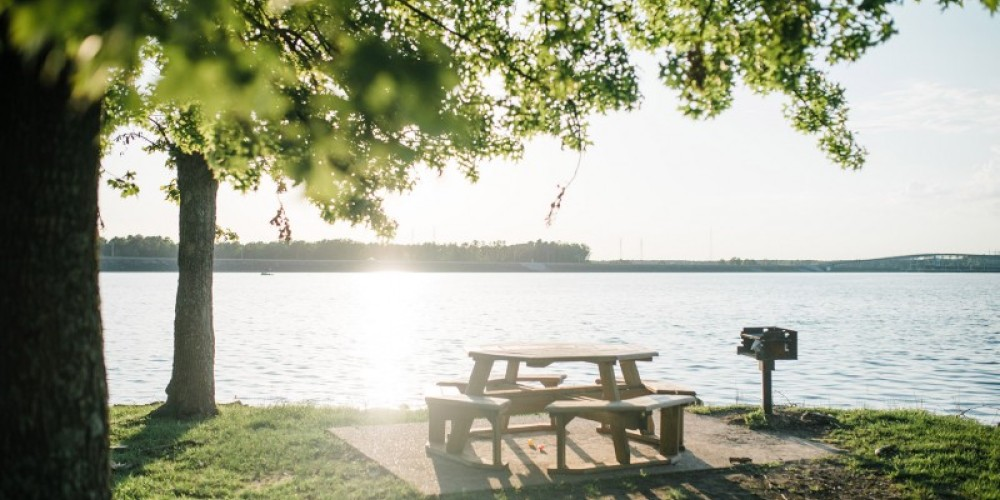 The Tennessee River offers a beautiful backdrop for an afternoon picnic or stroll through the forest. – Cari Griffith