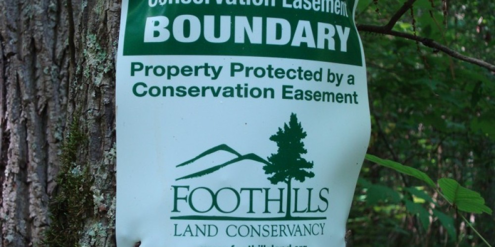 FLC's Conservation Easement sign – FLC Staff