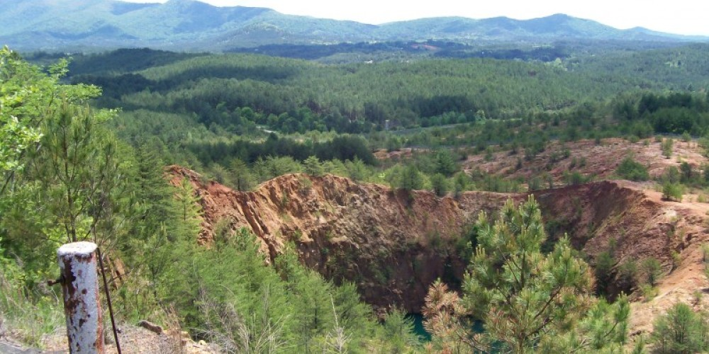 View from the museum overlook of the Burra Burra collapse – Ken Rush