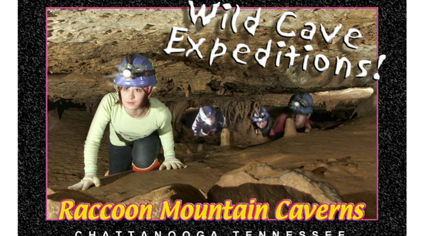 crawl in Scout Room – Raccoon Mtn Caverns