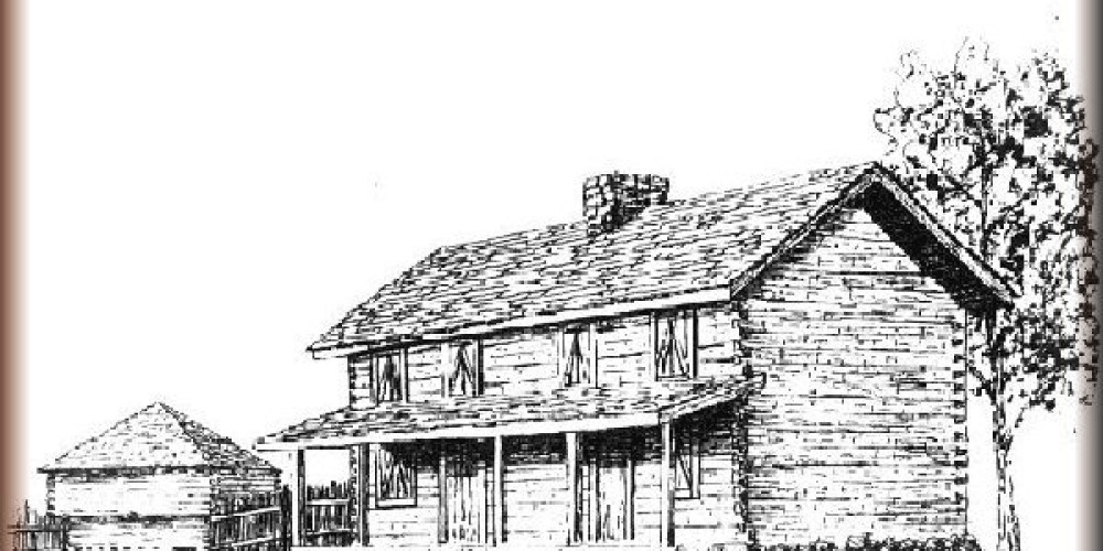 sketch of the barracks – Fort Southwest Point