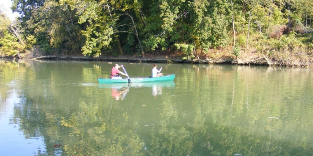 Canoeing on South Chickamauga Creek