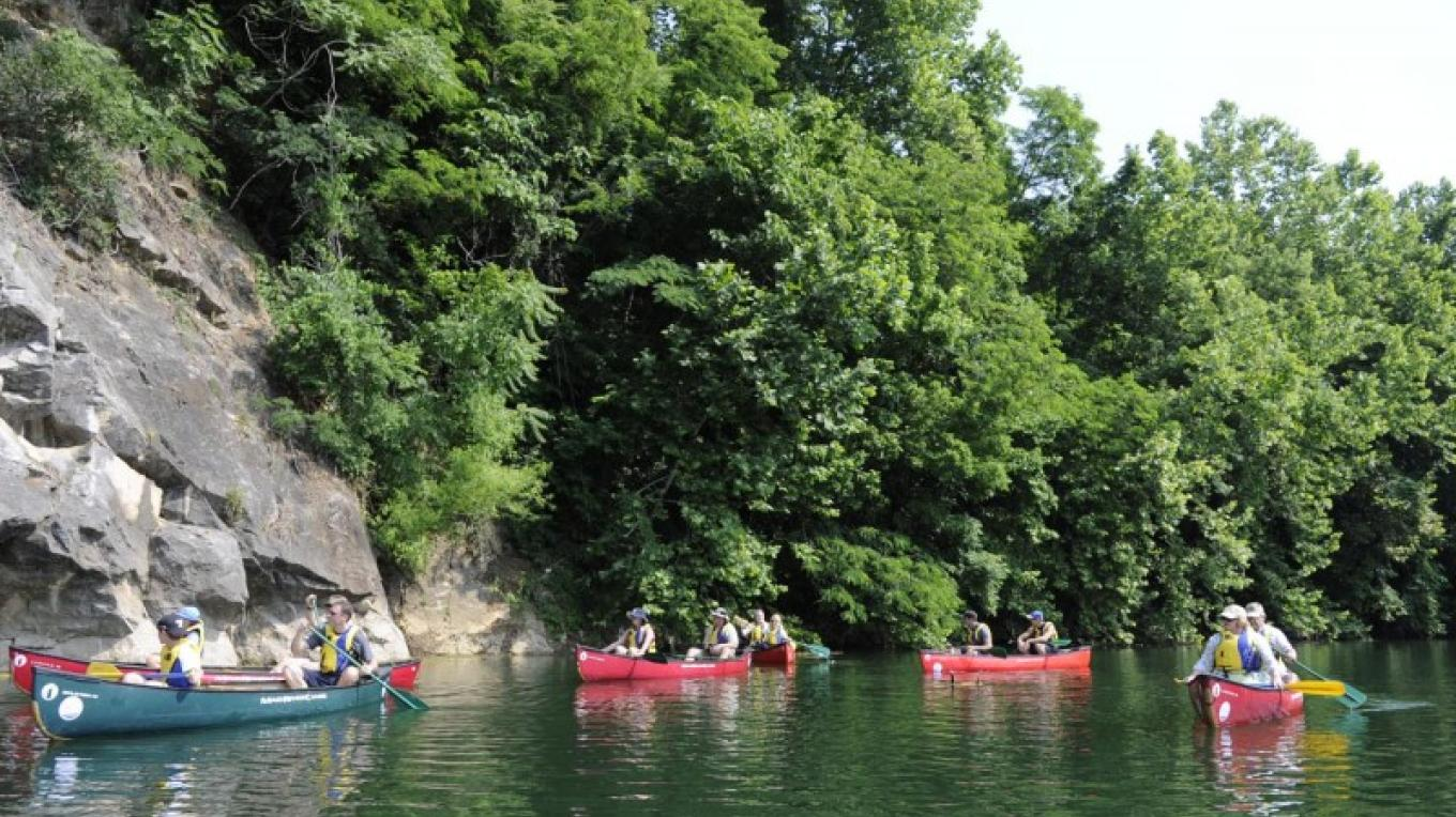Canoeing on Mead's Quarry Lake. – Knoxville News Sentinel