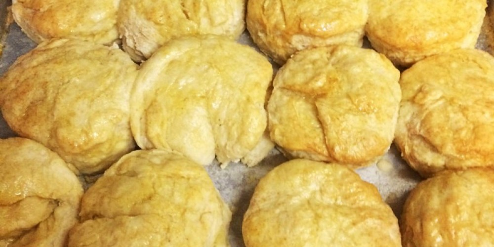 Hot cat head biscuits are a favorite – Dover Grille