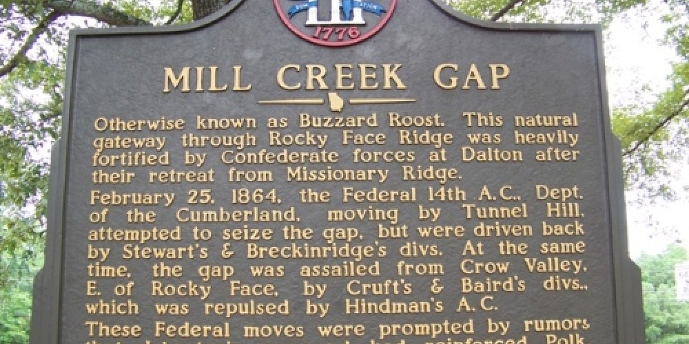 Mill Creek Gap Historical Marker – Georgia Civil War 150th