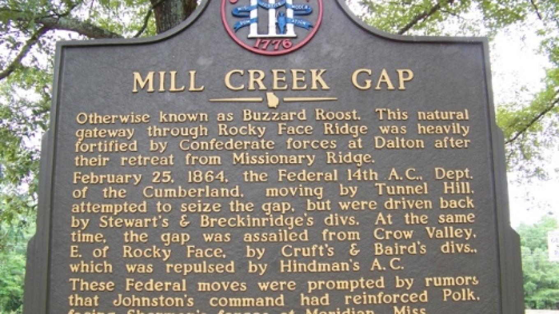 Mill Creek Gap Historical Marker – Georgia Civil War 150th