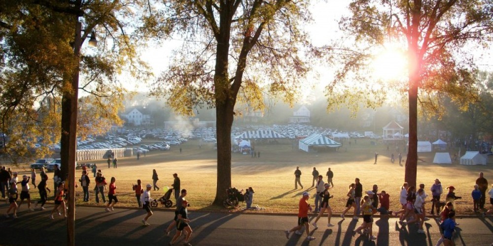 2010 Chickamauga Marathon - starting/finishing on Barnhardt Circle – Radonna Parrish