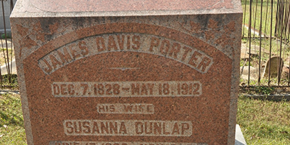 James Davis Porter (1828 – 1912) was an American politician, educator, and soldier. He served as Governor of Tennessee from 1875 -79. His home still stands a few blocks away. – Jean Owens