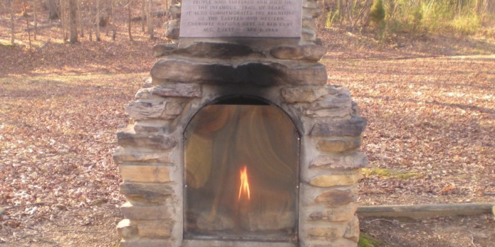 Eternal Flame at Red Clay State Historic Park – State Photo