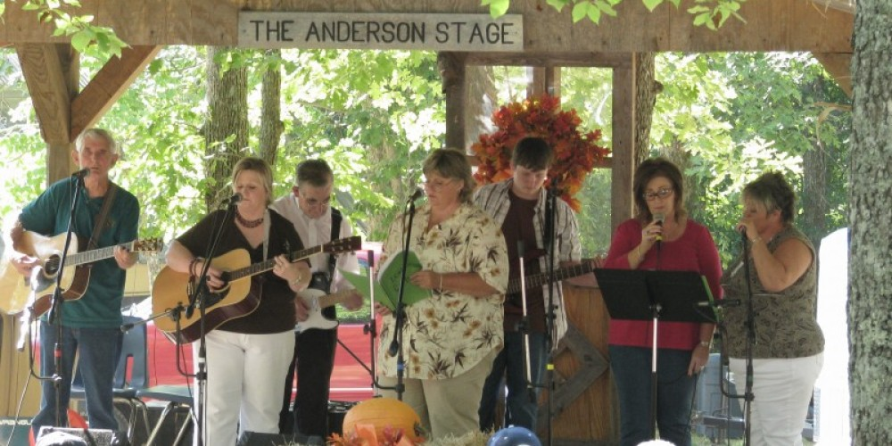 Music on the Anderson Stage is a popular attraction during the Mountaineer Folk Festival at Fall Creek Falls State Park – Stuart Carroll