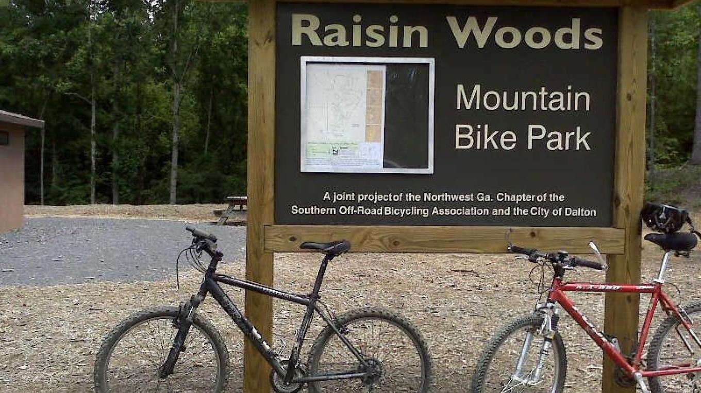 Raisin Woods Mountain Bike Park Dalton, Georgia