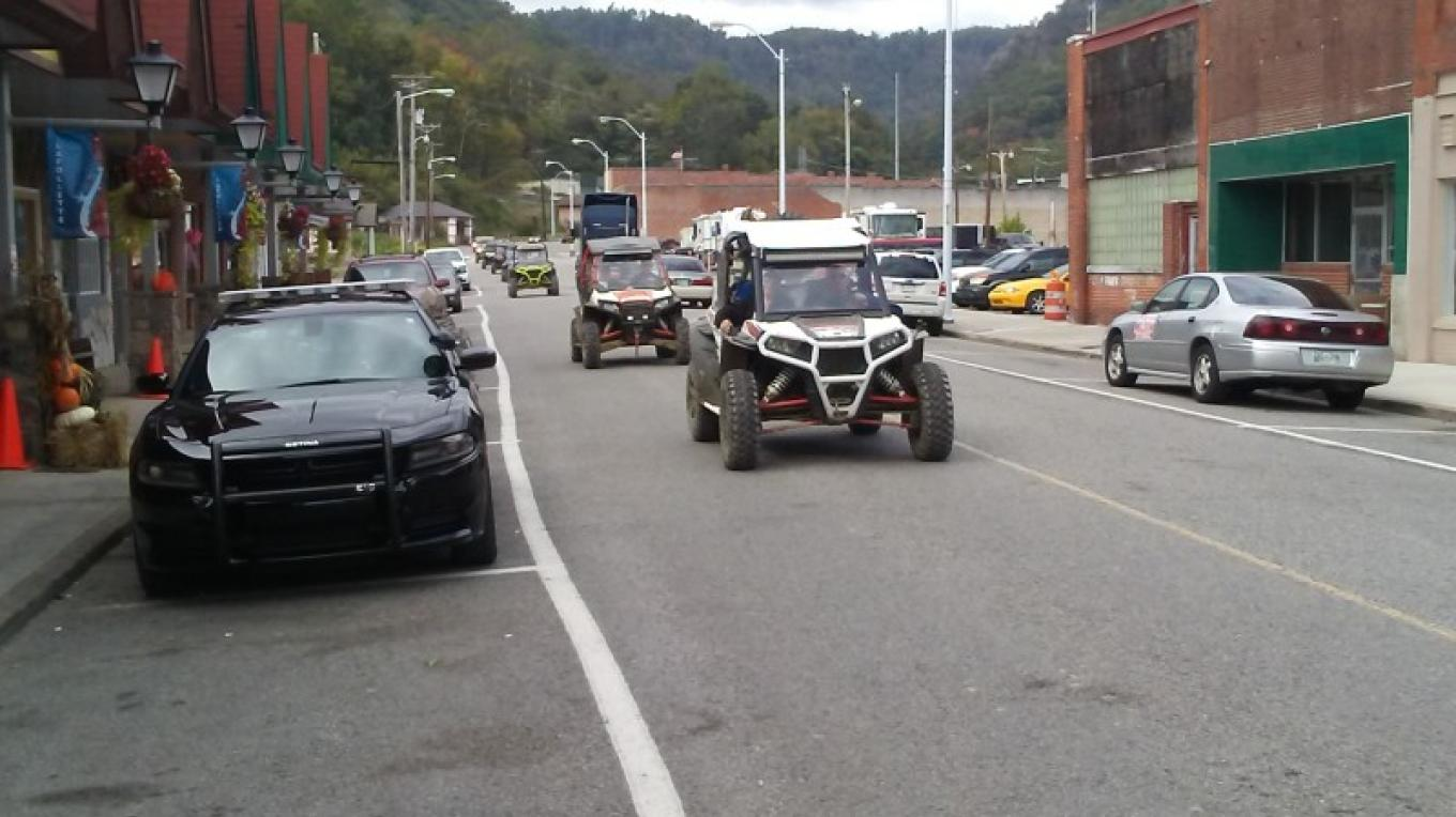 ATV's driving through downtown City of LaFollette