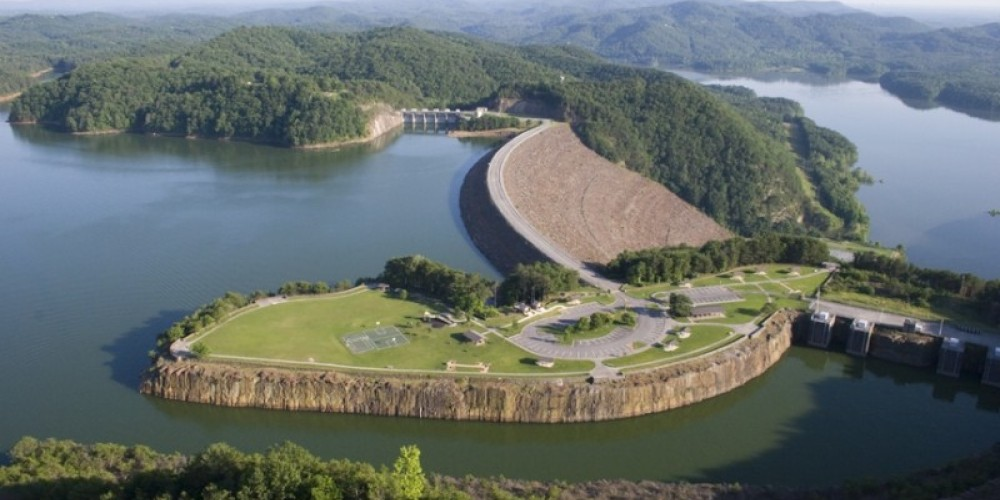 Carters Lake Dam and Spillway