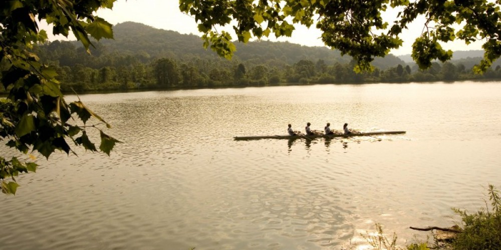 Rowers enjoying an evening on the lake – Murray Lee, TN State Photo Services