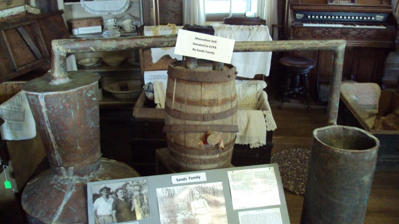 Moonshine still, museum artifact – Stephen Weber