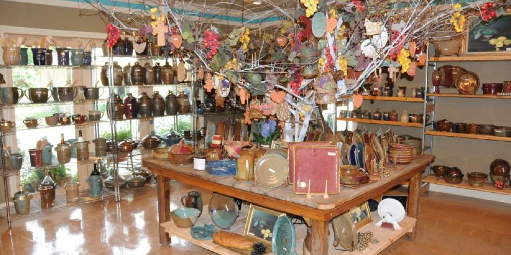 The gallery features over 3,000 pieces of handcrafted pottery. – John Dersham