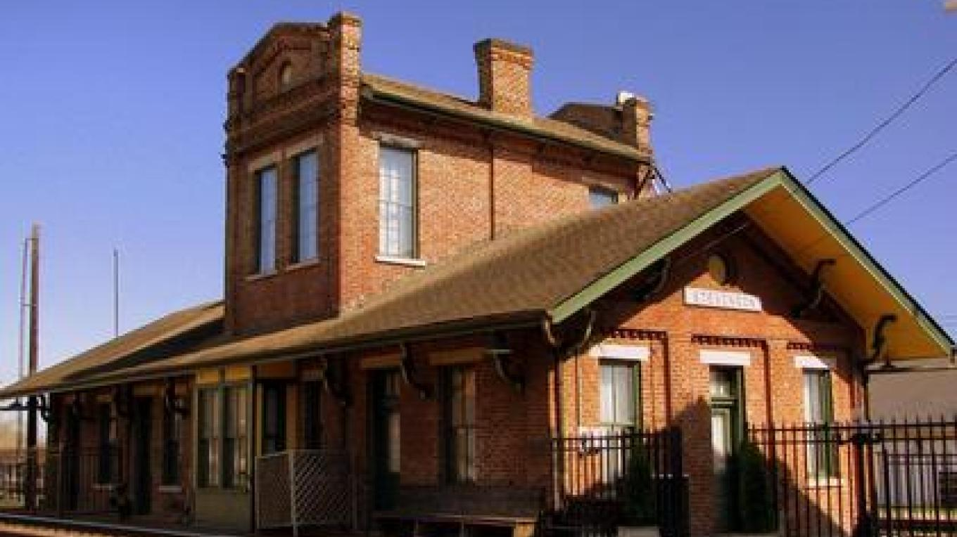 The Stevenson Railroad Depot was built in 1872 and is listed in the National Register of Historic Places. – AMLA