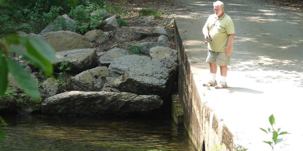 Fly fishing from the bridge – Delores Sowders