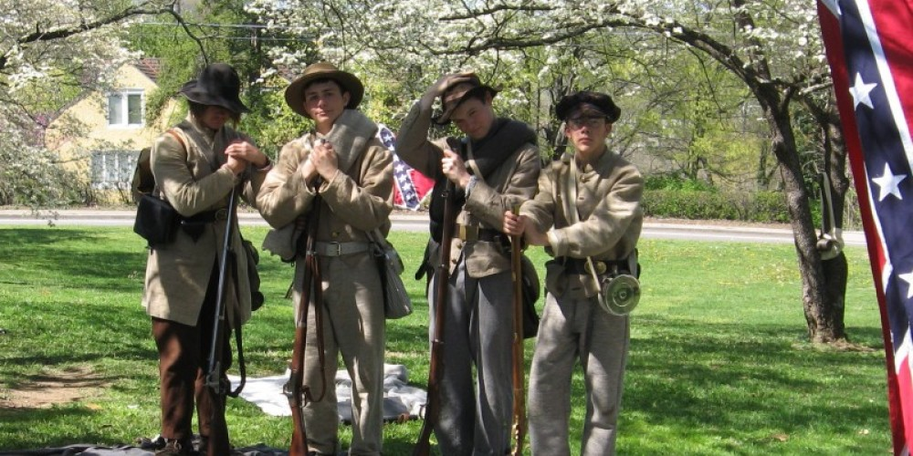 Living History portrays the Civil War history of the house. – Confederate Memorial Hall