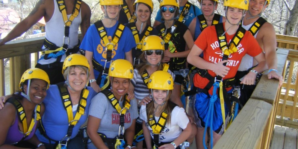 Groups of all ages can enjoy ziplining. – Claudette Geoffrion